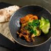 Хумус с печёными вешенками и теплыми питами Stone (Стоун)