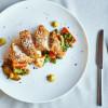 Куриное филе в пармезановым корочке с овощами Parmesan (Пармезан)