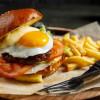 Бургер с телятиной, жареным яйцом и луковым мармеладом Stone (Стоун)