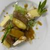 Салат с уткой и жареным камамбером Аляска