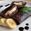 Блины шоколадные с творогом, бананом и шоколадной пастой Галя Балувана
