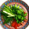 Тарелка свежих овощей и зелени Дядя Гиви
