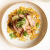 Салат с обжаренным цыпленком и кукурузой Счастье на Театральной