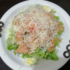 Салат с семгой и креветками Генацвале