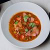 Чечевичный суп с телятиной, грецким орехом и халапеньо Parmesan (Пармезан)