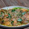 Карпаччо из лосося с артишоком, бурратой и руккольным айоли Parmesan (Пармезан)
