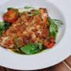 Дорадо в панировке из анчоусов с соусом из пряных томатов и кокосов Parmesan (Пармезан)