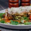 Лазанья с морепродуктами по-сицилийски с соусом шпинатный Бешамель Parmesan (Пармезан)