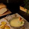 Сырно-картофельный суп с креветкой Red Cups