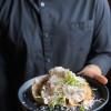 Салат с куриным филе, соусом Цезарь, беконом и яйцом пашот Stone (Стоун)