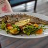 Радужная форель с печеными овощами Parmesan (Пармезан)