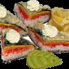 Суши-сэндвич с лососем Зеркальный